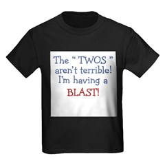 3-Terrible Twos.PNG Kids Dark T-Shirt
