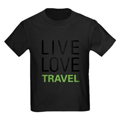 Live Love Travel Kids Dark T-Shirt