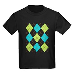 Argyle T-shirt Kids Dark T-Shirt