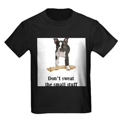 Boston Terrier Stuff Kids Dark T-Shirt