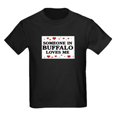 Loves Me in Buffalo Kids Dark T-Shirt