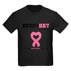 BreastCancerMissGrandmother Kids Dark T-Shirt