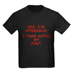 adorable like my aunt Kids Dark T-Shirt