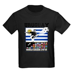Uruguay World Soccer Futbol Kids Dark T-Shirt