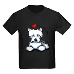 I Love Westies Kids Dark T-Shirt