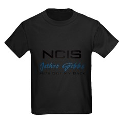 Gibbs He's Got My Back Kids Dark T-Shirt