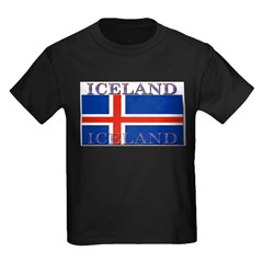 Iceland Infant Creeper Kids Dark T-Shirt