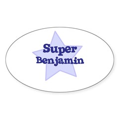 Super Benjamin Oval Sticker (Oval 10 pk)