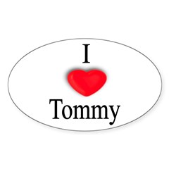 Tommy Rectangle Sticker (Oval 10 pk)