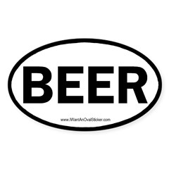 BEER Oval Sticker (Oval 10 pk)