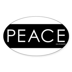 Peace Sticker (Oval 10 pk)