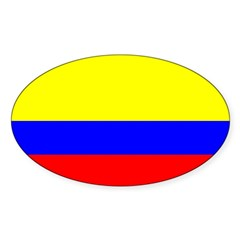 Colombia Flag Rectangle Sticker (Oval 10 pk)