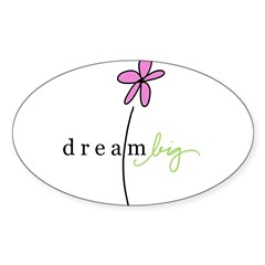 Dream Big Rectangle Sticker (Oval 10 pk)
