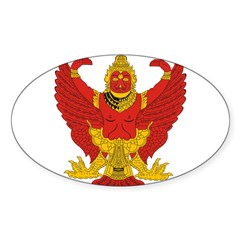 Thailand Emblem Oval Sticker (Oval 10 pk)