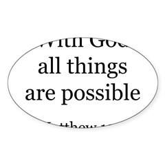 Matthew 19:26 Rectangle Sticker (Oval 10 pk)