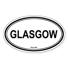 Glasgow, Scotland euro Oval Sticker (Oval 10 pk)