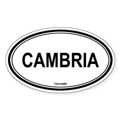 Cambria oval Oval Sticker (Oval 10 pk)