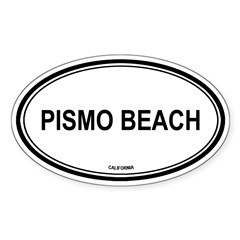Pismo Beach oval Oval Sticker (Oval 10 pk)