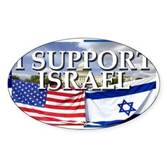 I Support Israel Rectangle Sticker (Oval 10 pk)