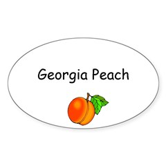 Georgia Peach Souvenir Sticker (Oval 10 pk)