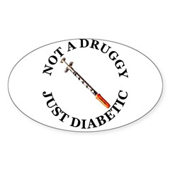 Diabetic Oval Sticker (Oval 10 pk)