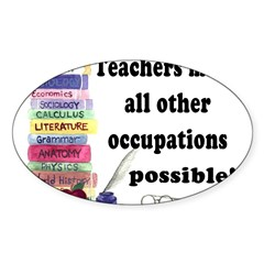 """Teacher Occupations"" Rectangle Sticker (Oval 10 pk)"