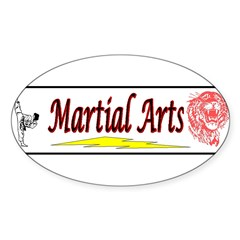 Tiger Martial Arts Sticker (Oval 10 pk)