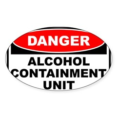 Alcohol Containment Rectangle Sticker (Oval 10 pk)