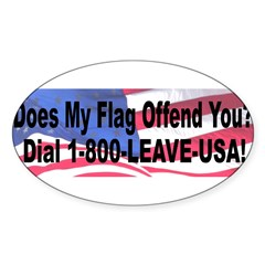 Does My Flag Offend You Sticker (Oval 10 pk)