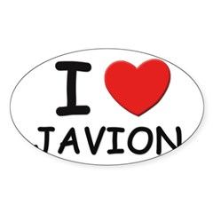 I love Javion Rectangle Sticker (Oval 10 pk)
