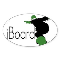 iBoard Rectangle Sticker (Oval 10 pk)
