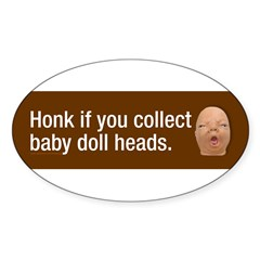 Collect baby doll heads Sticker (Oval 10 pk)