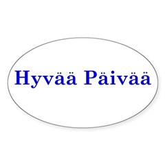 Hyvää Päivää Rectangle Sticker (Oval 10 pk)