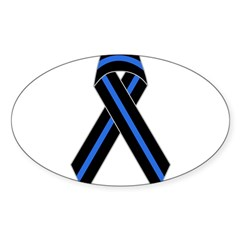 Memorial Ribbon Rectangle Sticker (Oval 10 pk)