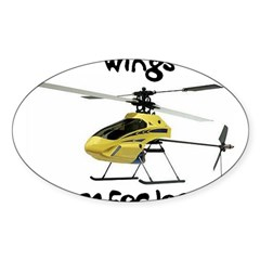 Helicopter Rectangle Sticker (Oval 10 pk)