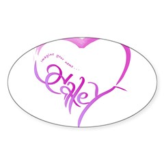 Haley purple heart Rectangle Sticker (Oval 10 pk)