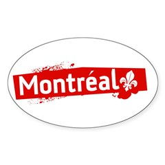 'Montreal' Rectangle Sticker (Oval 10 pk)