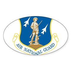 Air National Guard Rectangle Sticker (Oval 10 pk)