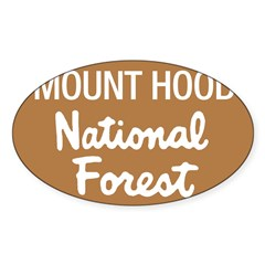 Mount Hood (Sign) National Fo Sticker (Rectangular Sticker (Oval 10 pk)