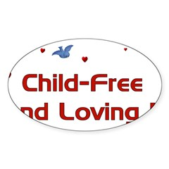 Child Free Sticker (Oval 10 pk)
