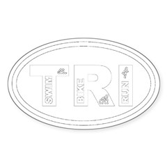 Triathlon Oval Sticker (Oval 10 pk)