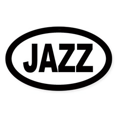 Jazz Car Oval Sticker (Oval 10 pk)