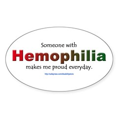 Hemophilia Pride Rectangle Sticker (Oval 10 pk)