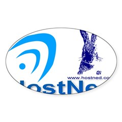 HostNed Rectangle Sticker (Oval 10 pk)