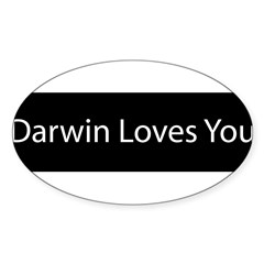 Darwin Loves You Sticker (Oval 10 pk)