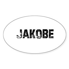 Jakobe Rectangle Sticker (Oval 10 pk)
