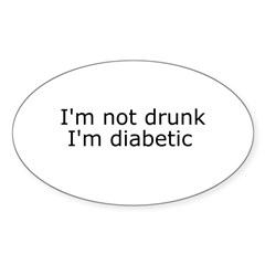 Diabetic Info Rectangle Sticker (Oval 10 pk)