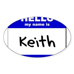 hello my name is keith Rectangle Sticker (Oval 10 pk)
