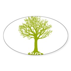 TREE hugger (lime) Rectangle Sticker (Oval 10 pk)