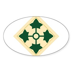 4th Infantry Division Rectangle Sticker (Oval 10 pk)
